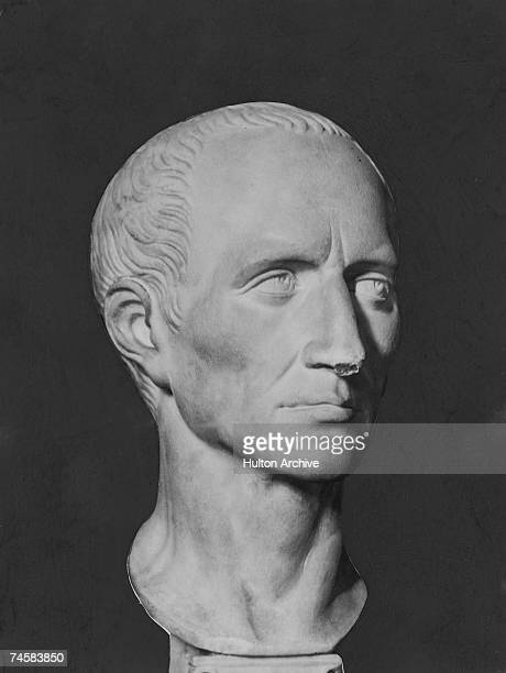 A bust of Roman military leader and emperor Julius Caesar who ruled over Rome from 49 BC until his assassination in 44 BC From the British Museum