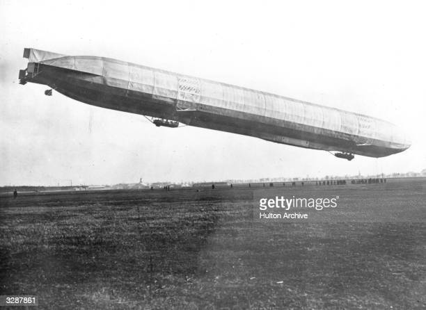A German Zeppelin ascending from its base for a raid on London During World War I the Germans carried out 12 airship raids on London and many...