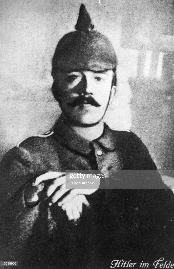 Adolf Hitler dressed in his field uniform during World War I