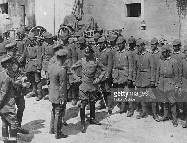 Wilhelm the Crown Prince of Germany on the Western front with his troops