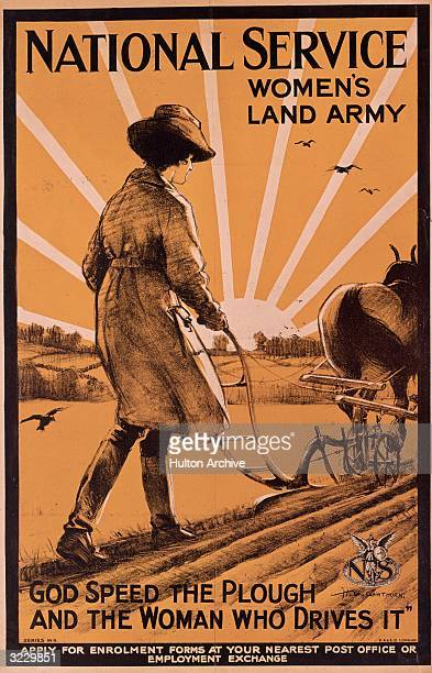A British recruitment poster urging women to join the Women's Land Army on the homefront of Britain's wartime effort