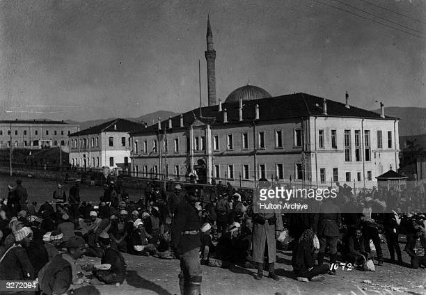 The conscription of reserve soldiers in Greece for fighting on the Salonika front