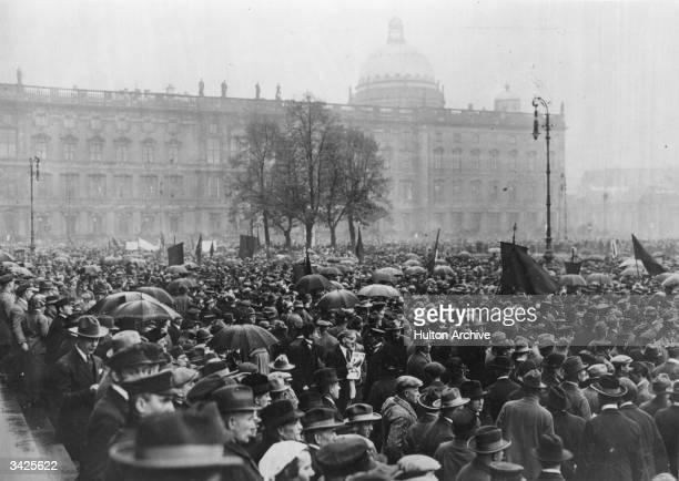 A Peace demonstration in Berlin following Germany's defeat in World War I