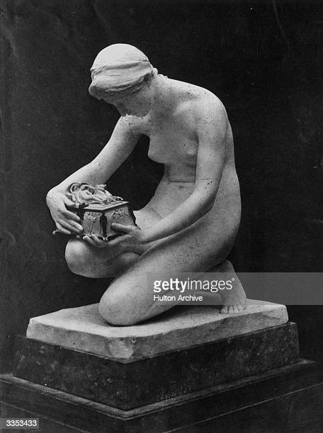 A sculpture of Pandora by the English sculptor Harry Bates According to Greek mythology Pandora was the first woman on earth created by the god...
