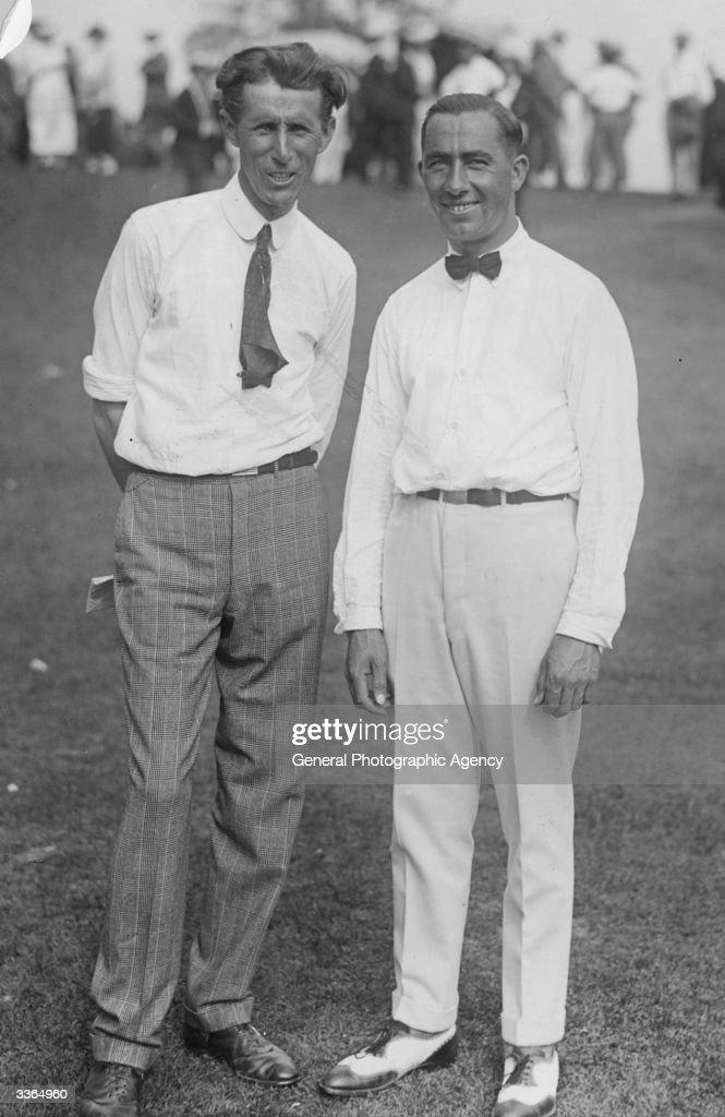American golfers Walter Hagen and Jim Barnes
