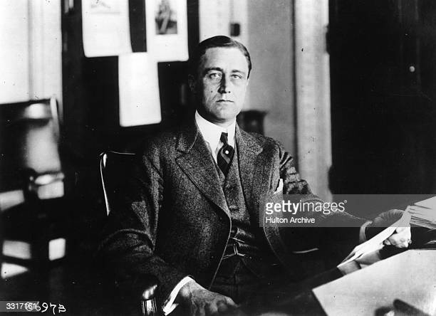 American Statesman Franklin Delano Roosevelt later the 32nd President of the United States