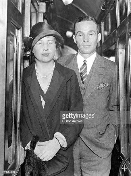 Edsel Bryant Ford the son of Henry Ford the American automobile engineer He succeeded his father to the business in 1919 He is pictured with his wife...