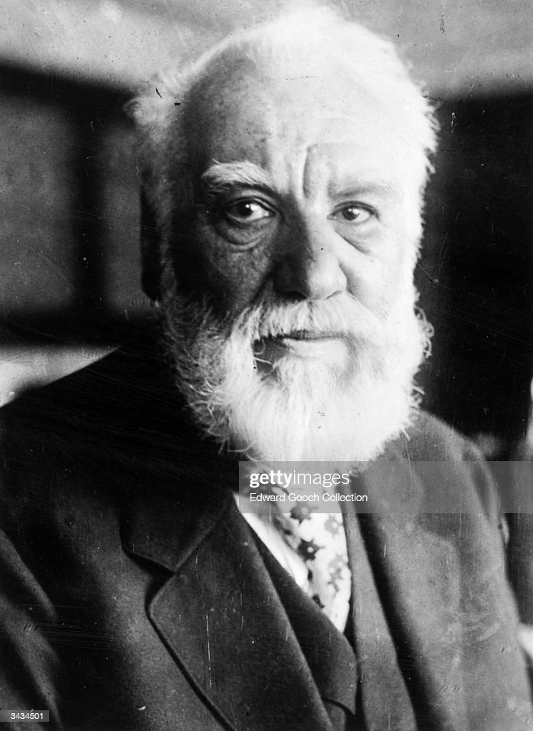 Scots born American inventor, <a gi-track='captionPersonalityLinkClicked' href=/galleries/search?phrase=Alexander+Graham+Bell&family=editorial&specificpeople=114041 ng-click='$event.stopPropagation()'>Alexander Graham Bell</a> (1847 - 1922). Patented the telephone and invented the gramophone.