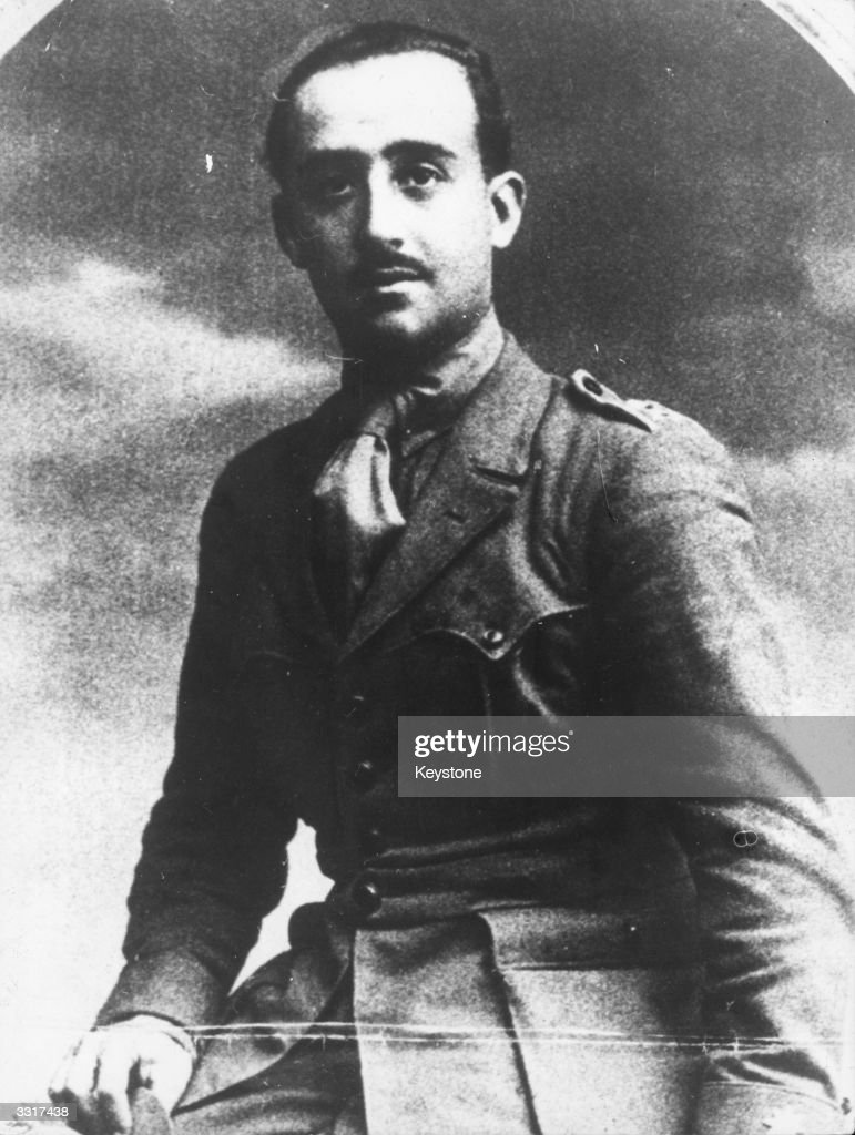 Spanish military dictator, General <a gi-track='captionPersonalityLinkClicked' href=/galleries/search?phrase=Francisco+Franco&family=editorial&specificpeople=190209 ng-click='$event.stopPropagation()'>Francisco Franco</a> (1892 - 1975), as a young man.