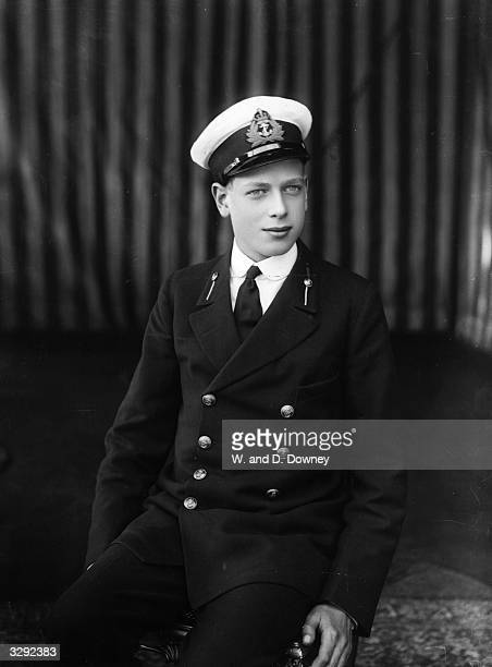 The Duke of Kent Prince George as a naval cadet