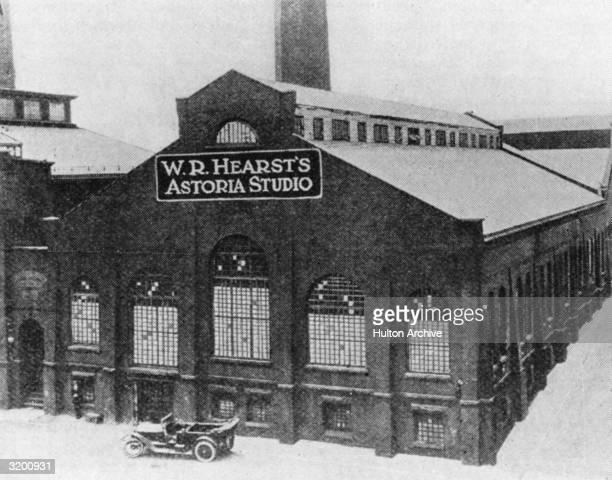 The exterior of the WR Hearst Astoria Film Studio located in Astoria Queens New York