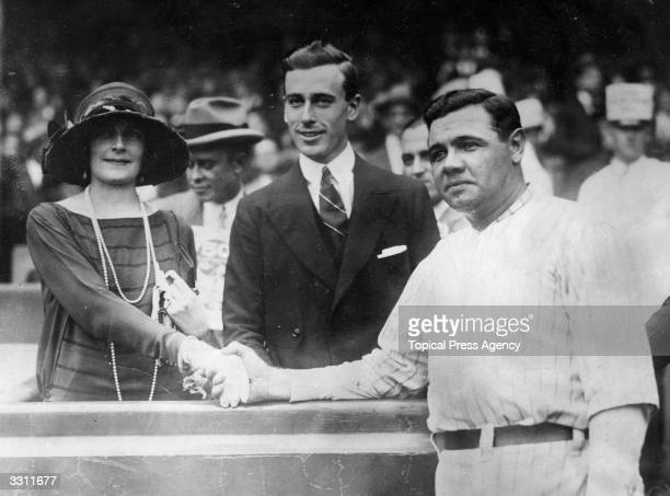 Lord and Lady Mountbatten meeting basebell hero Babe Ruth