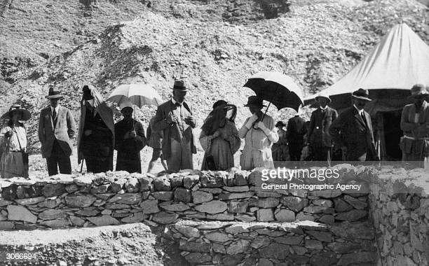 Tourists and souvenir hunters visit the tomb of Egyptian pharaoh Tutankhamen discovered by Howard Carter in the Valley of the Kings in Luxor