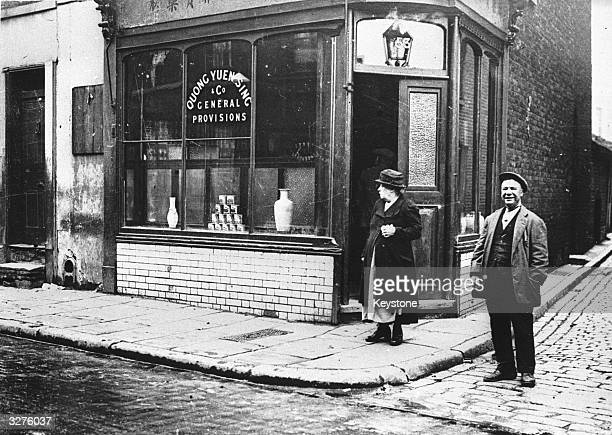A Chinese shop selling general provisions in Pennyfields East London