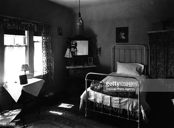 A bedroom at the Calgary Women's Hostel where domestic emigrants to Canada stayed until they found employment