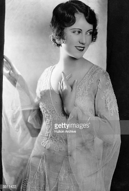 A portrait of silent screen actress Fay Wray who starred in 'King Kong'