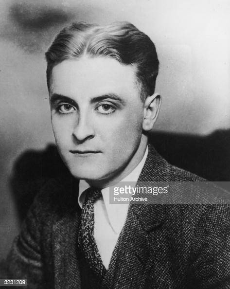 American author F Scott Fitzgerald wearing a tweed suit