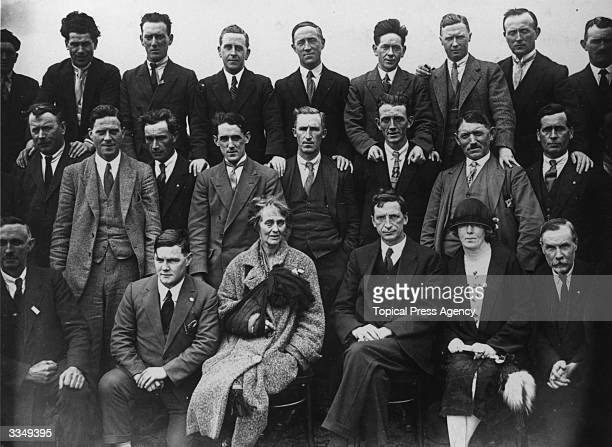 Eamon de Valera head of the Irish Fianna Fail Republican Party with other members of the party including Irish nationalist politician and member of...