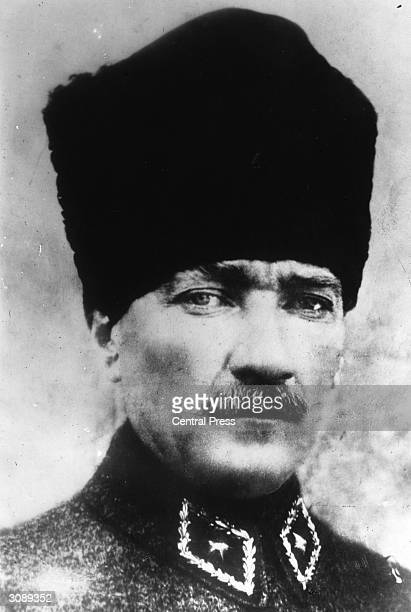 First president of Turkey soldier and nationalist leader Mustafa Kemal Ataturk