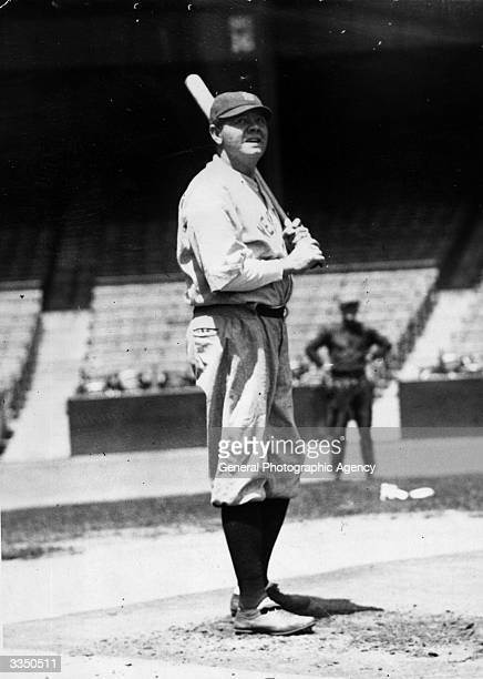 George Herman Ruth in training for the New York Yankees Many of his records remained unbroken for decades including most home runs in one season 60...