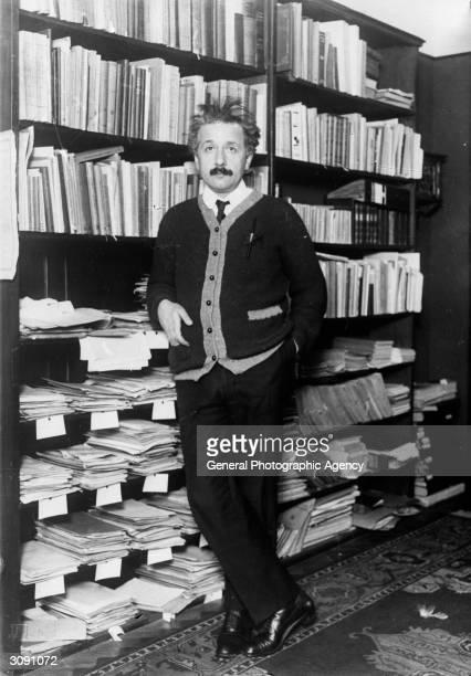 Professor Albert Einstein mathematical physicist at home