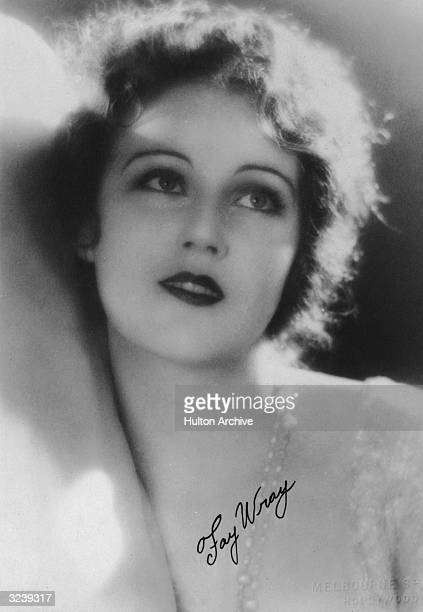 Studio headshot portrait of Canadianborn actor Fay Wray wearing a jeweled necklace