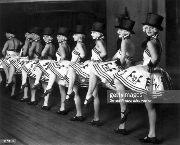 The Chorus line from a cabaret show at the Piccadilly Hotel in London