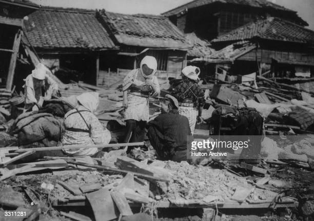 The surviving victims of a Japanese earthquake