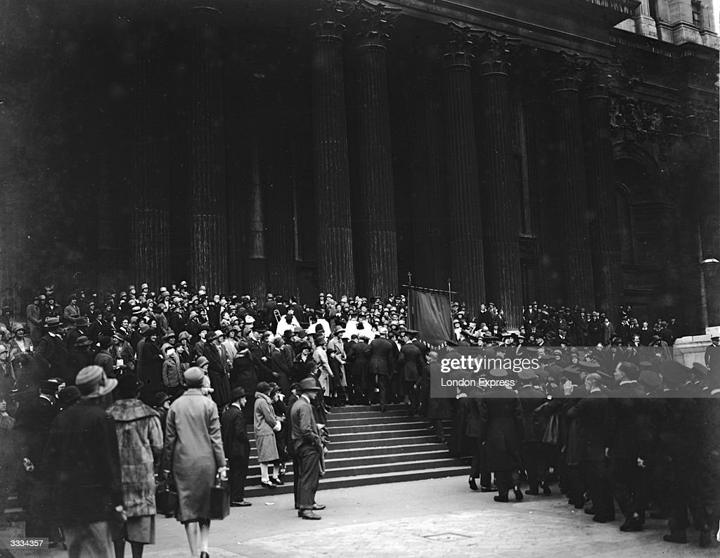 The Salvation Army marching into St Paul's Cathedral for an evening service