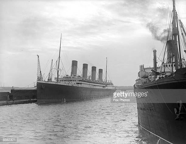 The Cunard White Star liner 'Olympic' built in 1911