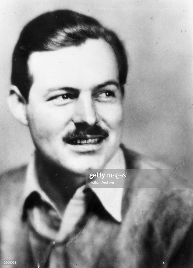 A headshot of author <a gi-track='captionPersonalityLinkClicked' href=/galleries/search?phrase=Ernest+Hemingway&family=editorial&specificpeople=93360 ng-click='$event.stopPropagation()'>Ernest Hemingway</a> (1899 - 1961) as a young man.