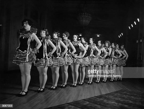A line of chorus girls in the cabaret at the Piccadilly Hotel London