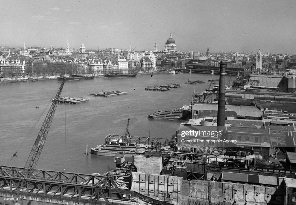 A view of London and the Thames looking North Easterly from Waterloo.