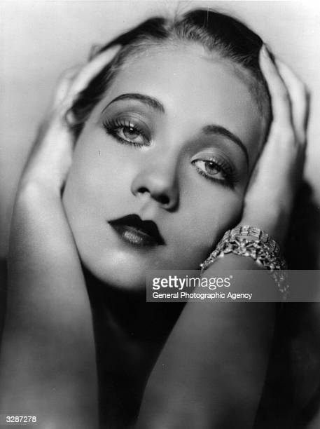 Actress Harriette Lake in a seductive pose Lake later changed her stage name to Ann Sothern and her hair from red to platinum blonde when she was...