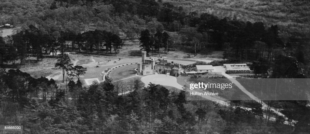An aerial view of Fort Belvedere an 18th Century country house in Windsor Great Park formerly the residence of King Edward VIII