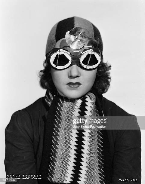 Grace Bradley an American film actress of the 30s and early 40s sporting a pair of novelty glasses