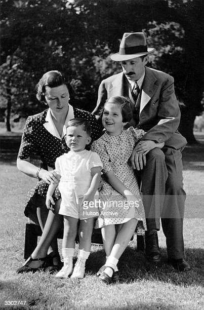 King Boris III of Bulgaria with his family in the garden