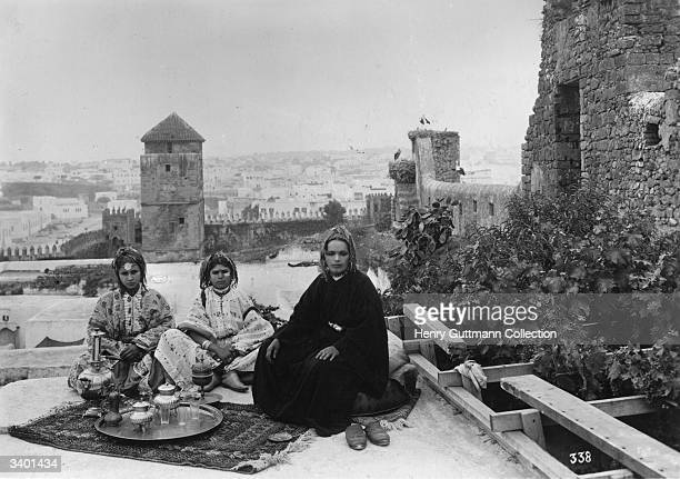 Moroccan women resting in Oujda in northeast Morocco