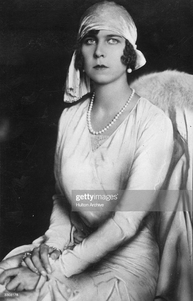 Princess Marie Jose of Belgium (1906 - 2001), the future Queen Marie Jose of Italy, as the fiancee of Prince Umberto, the future King Umberto II of Italy.