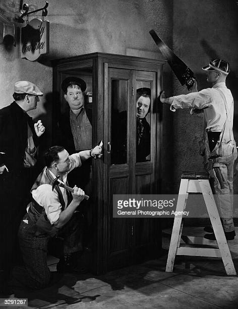 Stan Laurel originally Arthur Stanley Jefferson and Oliver Hardy