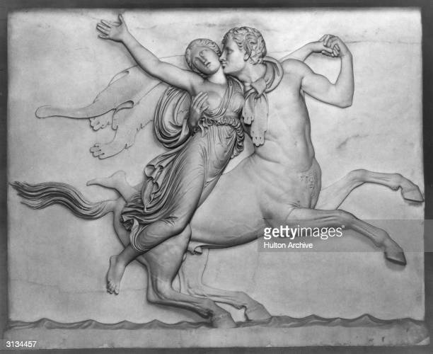 The centaur Nessus snatches away the beautiful Deianeira wife of the Greek hero Heracles Heracles then killed the centaur with a poisoned arrow...