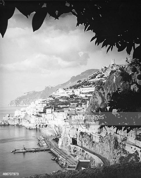 The City of Amalfi Seen From the Monastery circa 1930