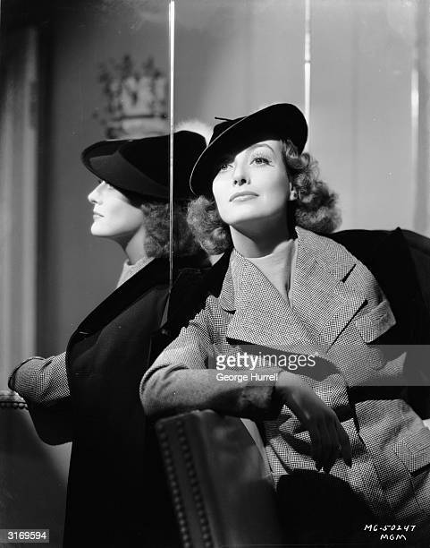 American actress Joan Crawford wearing a tweed jacket and huntingstyle hat Born Lucille LeSueur in Texas she made several films before achieving...