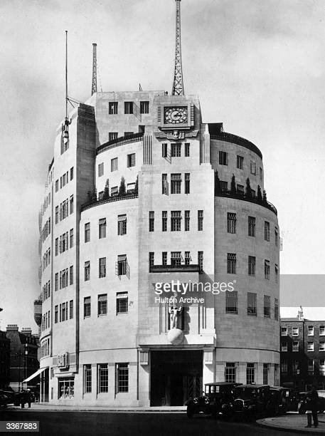 The south front of Broadcasting House headquarters of the British Broadcasting Corporation at Langham Place London