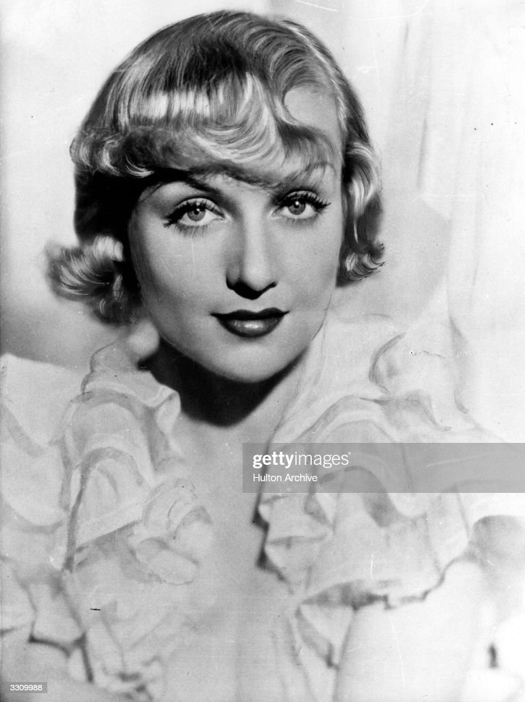 American actress <a gi-track='captionPersonalityLinkClicked' href=/galleries/search?phrase=Carole+Lombard&family=editorial&specificpeople=93207 ng-click='$event.stopPropagation()'>Carole Lombard</a> (Jane Alice Peters, 1908 - 1942) who starred in Mack Sennett's comedies before joining Paramount in 1930. She married and divorced actor William Powell, before marrying screen hearthrob Clark Gable. She died in an aircrash.
