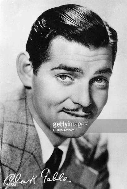American film star William Clark Gable who portrayed Rhett Butler in 'Gone With The Wind' He received an Academy Award in 1934 and was crowned 'King...
