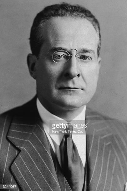 Portrait of American journalist and editor Herbert Bayard Swope Pulitzer Prize winner for his World War I coverage