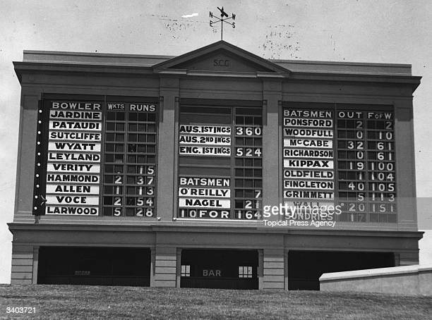 Sydney score board 1st test Australia v England England win the first test by 10 wickets 27 December
