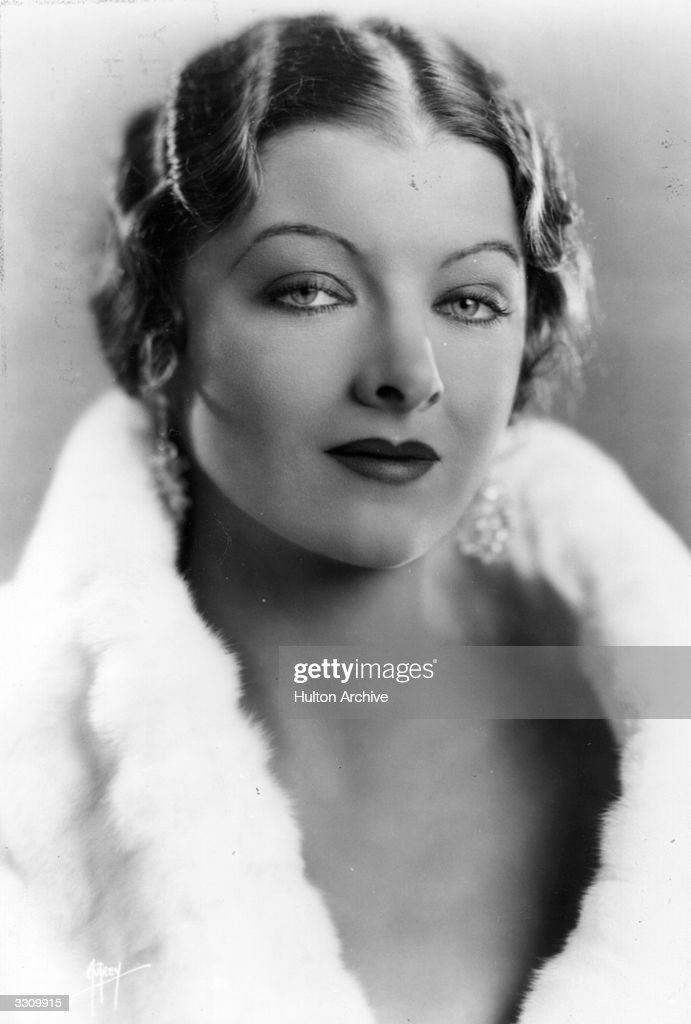 <a gi-track='captionPersonalityLinkClicked' href=/galleries/search?phrase=Myrna+Loy&family=editorial&specificpeople=93857 ng-click='$event.stopPropagation()'>Myrna Loy</a> (1905 - 1993), the Hollywood film actress, usually cast as an exotic vamp. In 1936, the height of her career she was declared 'Queen of the Movies'.