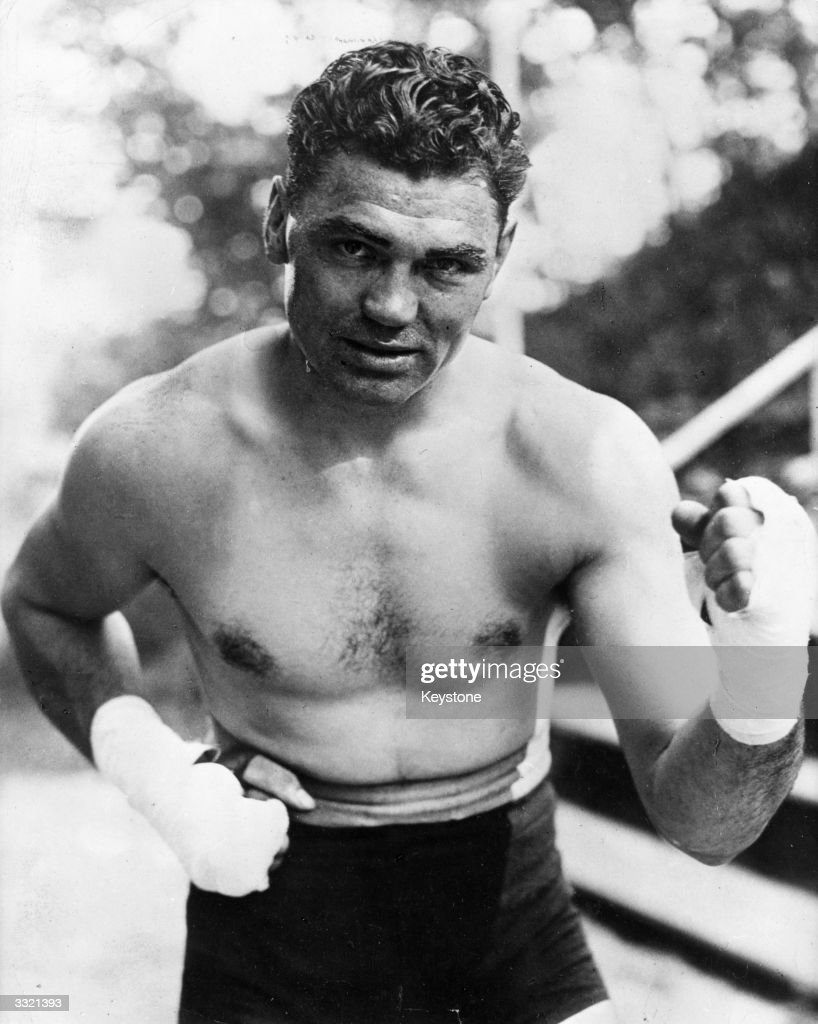 American heavyweight boxer <a gi-track='captionPersonalityLinkClicked' href=/galleries/search?phrase=Jack+Dempsey+-+Pugilista&family=editorial&specificpeople=15348667 ng-click='$event.stopPropagation()'>Jack Dempsey</a> (1895 - 1983).